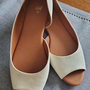 White H&M Flats